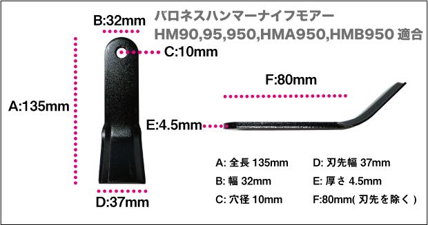 バロネスハンマーナイフHM95
